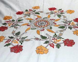 Bed Sheet Design And Saree Design Hand Craft Manufacturer Thread