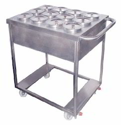 Steel Finish Stainless Steel Masala Trolley, For Commercial