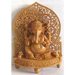 Wooden Cutwork Wall Ganesha