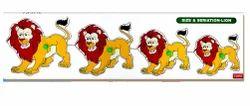 Wooden Lion Seriation Puzzles