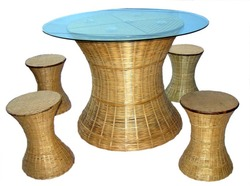 Bamboo Dining Table Baans Ki Dining Table Latest Price