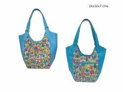 Women BLUE Stylish Leather Bag, Size: 26x32x7 Cms