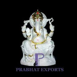 White Marble Lord Ganesha Statue