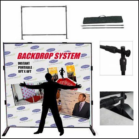 Adjustable Telescopic Pole Backdrop Stand