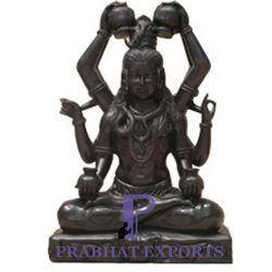 Shiva Black Marble Statue
