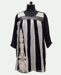 Round Neck Designer Cotton Kurti