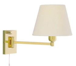 Swing Arm Brass Wall Light