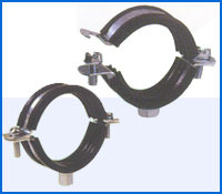 100mm Dual Bossed Rubber Lined Clamp Pipe Clip