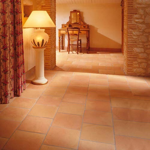 Terra Cotta Floor Tile ट रक इल