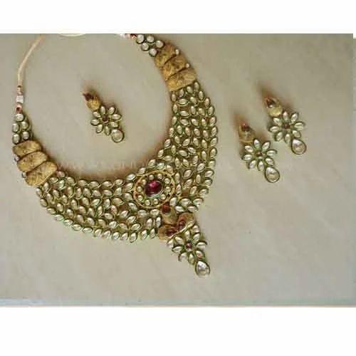 Indian Bridal Jewellery Set22k Gold Plated Handmade Teenas