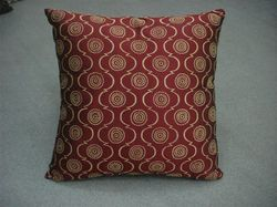 Maroon Printed Cushion Cover