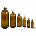 Amber Glass Round Bottles