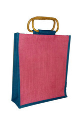 Jute Shopping With Cane Handle