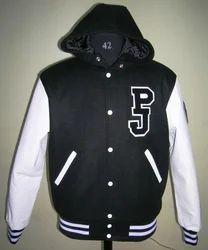 Black Hood Varsity Jacket - Unisex