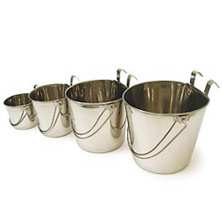 Stainless Steel Flat Sided Pails