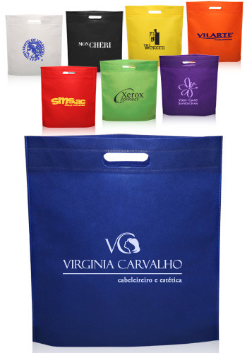 Non Woven D-Cut Bag, Thickness: 50 Gsm