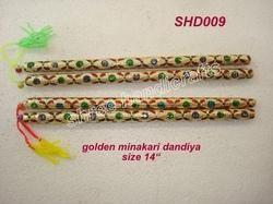 Golden Minakari Dandiya