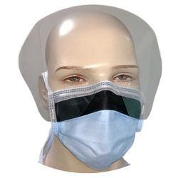 Blue Non Woven 4 Ply Visor Mask, Tie On