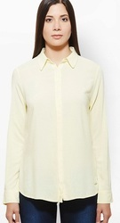 Yellow Full Sleeves Shirt With Concealed Button -Core