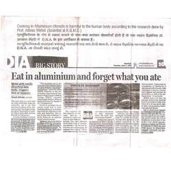 Eat in Aluminium & Forget what you ate