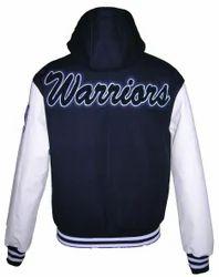 Warriors Black White Varsity Jacket