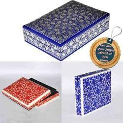 Assorted Colors Rectangular Paper Mache Keepsake Boxes