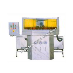 Rotary Semi Automatic Bottle Washing Machine