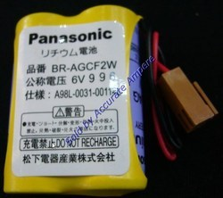 Panasonic Br Agcf2w 6v Lithium Battery For Cnc Fanuc