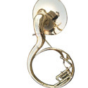 Brass Sousaphone Smallest Size 16 Inches Brass Polish