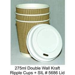 Triple Wall Kraft Ripple Cup with Lid