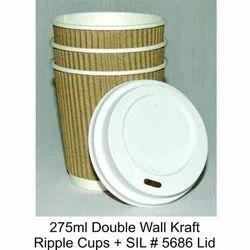 Triple Wall Kraft Ripple Cup with Lid