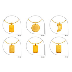 SS Fancy Gold Plated Pendant