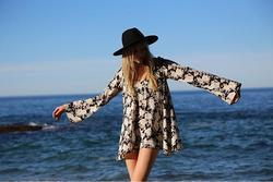 Printed Denim Summer Bliss Dress