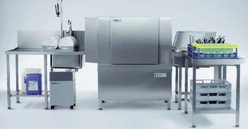Freestanding Rack Conveyor Dishwashing Machine, Capacity: 155 racks / Hr
