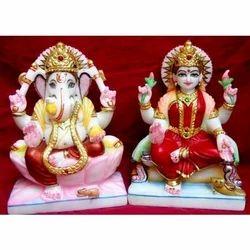 Ceramic Ganesh Laxmi Small Statue