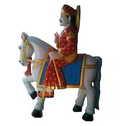 Marble Horse Man Statue