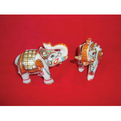 Marble Welcome Elephants