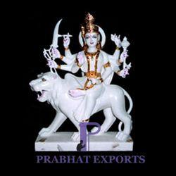 White Marble Goddess Durga Statue