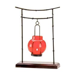 Hanging Red Candle Holder