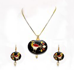 Changeable Stone Artificial Necklace Set