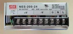 Silver NES-200-24 Single Output Power Supply, Output Voltage (DC): 24vdc, Input Voltage Range: 85-230vac