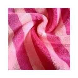 Knitted Yarn Dyed Velour Striped Fabric