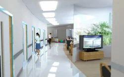 Hospital Reception Interior Designing