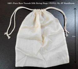 Tussar Silk String Bags