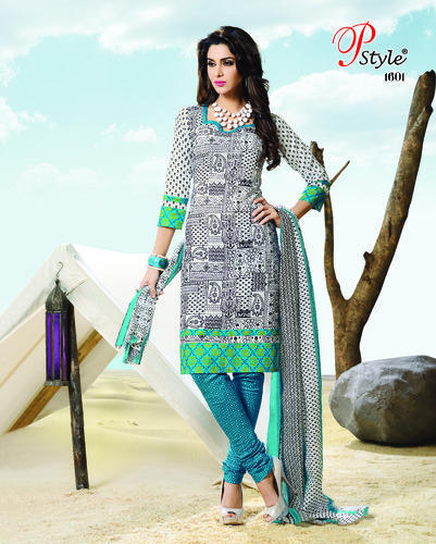 1247fc4f06 Latest Designer Printed Salwar Suit Dress Material - Buyclues ...