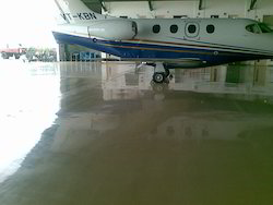 Epoxy Flooring For Airport Hanger