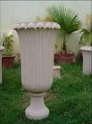 Pink Sand Stone Flower Pot