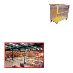 Wire Mesh Trolley for Warehouses