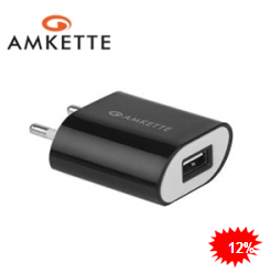 Amkette USB Wall Charger FDD677BK