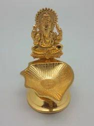 Gold Plated Ganesha Lamp